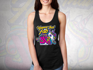 Picture of WTF (Women That Fab) Womens Racerback Tank Medium